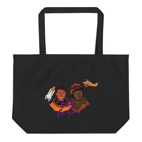 Fly Girls Large organic tote bag