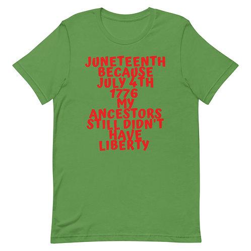 Why Juneteenth Short-Sleeve Unisex T-Shirt