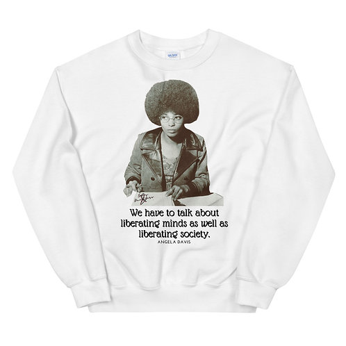 Light Colors Ms. Angela Davis Unisex Sweatshirt