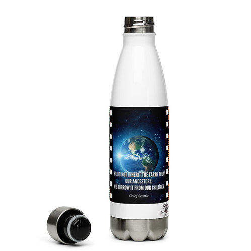 Earth Day Stainless Steel Reusable Bottle