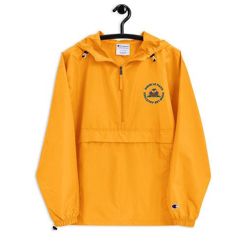 Pour Les Pays Embroidered Champion Packable Jacket