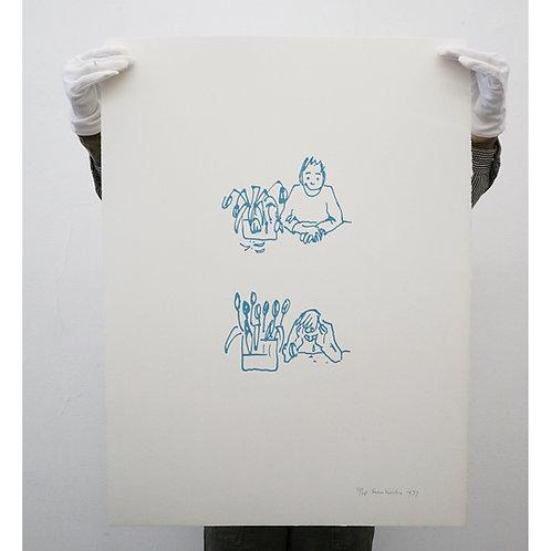 Teun Hocks - Untitled (tulips), 1977