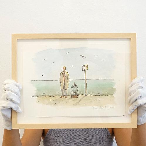 Teun Hocks- Drawing (bird cage)