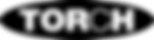 TORCH ovaal logo ZWART Transparant print