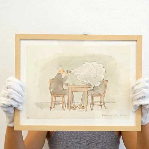 Teun Hocks - Drawing (pipe smoke)
