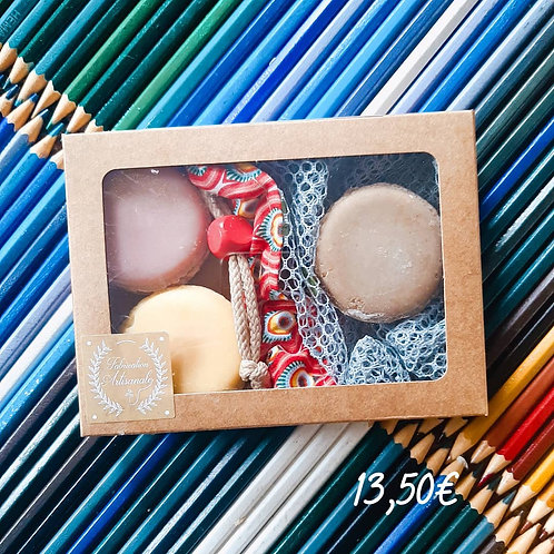 coffret 3 macarons + filet
