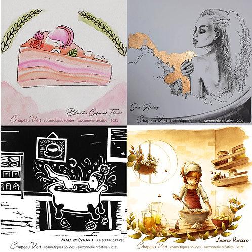 les 4 illustrations