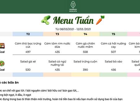 Weekly menu 8/3 - 12/3