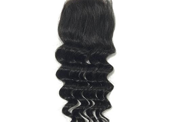Flawless mink loose deep wave Lace closure