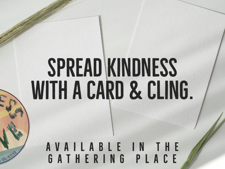Spread Kindness with a Card & Cling