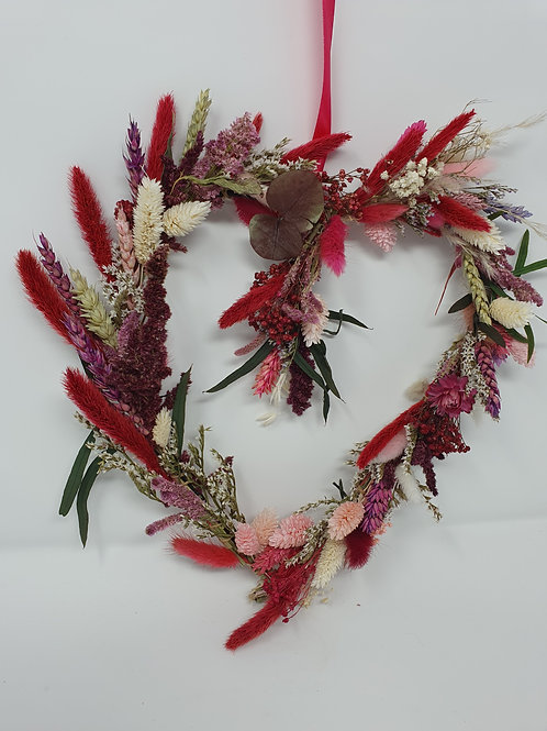 "NEW ""Cherry Blossom"" Dried Flower Heart"