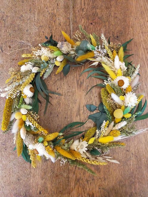 "NEW ""Spring Breeze"" Dried Flower Wreath"
