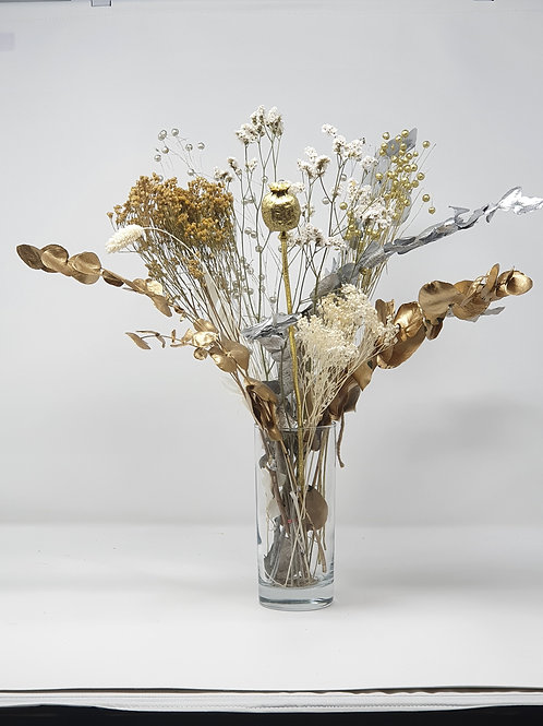 """Golden"" Dried Flower Bunch"