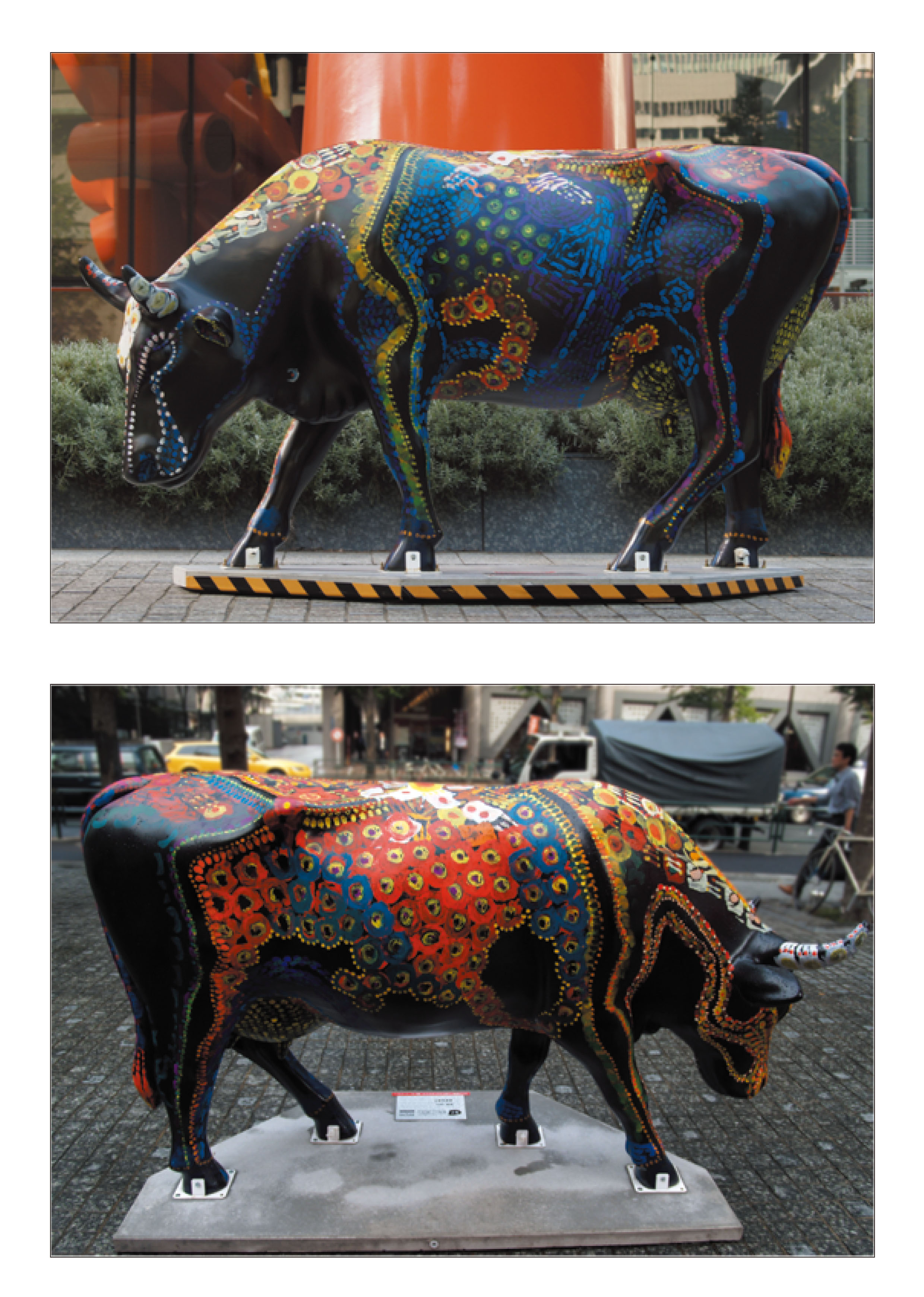 cow parade in 丸の内