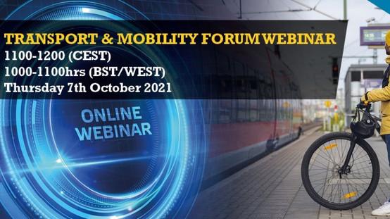 AET Transport and Mobility Forum: Webinar 07 October 2021