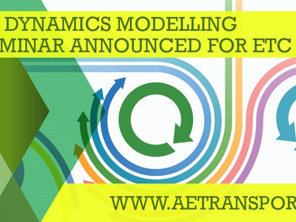 New seminar announced for ETC 2019 System Dynamics Modelling
