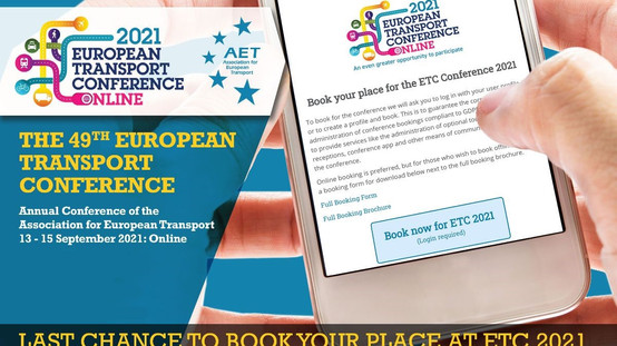 ETC 2021: Last chance to book!⏰