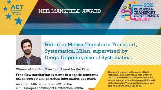 ETC 2021: Neil Mansfield Award Winner