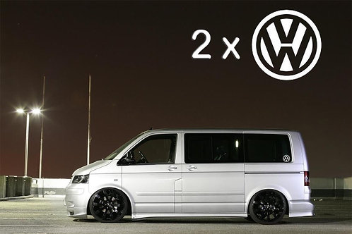 2 x VW Logo Window Car Surf Vinyl Decal