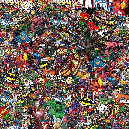 Marvel - Dc - Vw Sticker Bomb