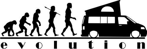 EVOLUTION VW Campervan T5 Pop Vinyl Decal Sticker VW funny