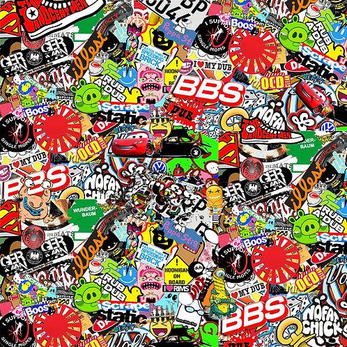 Vw Retro Bbs Sticker Bomb