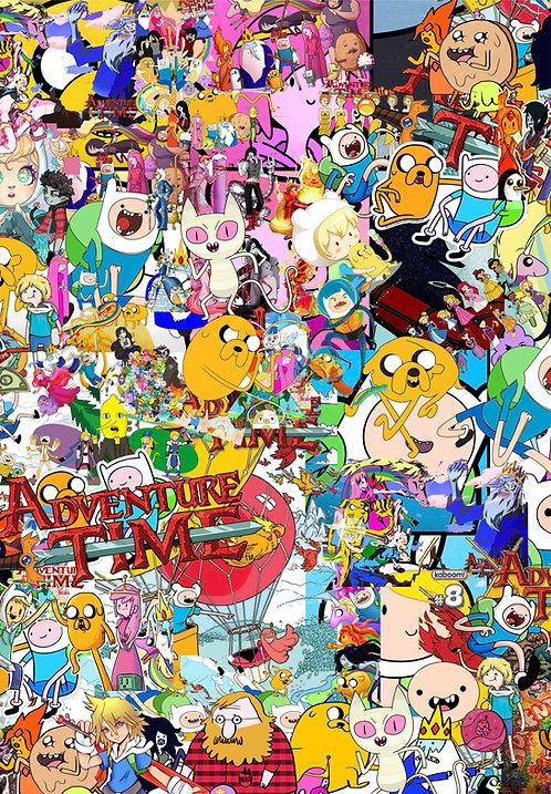 2 x Adventure Time Sticker Bomb