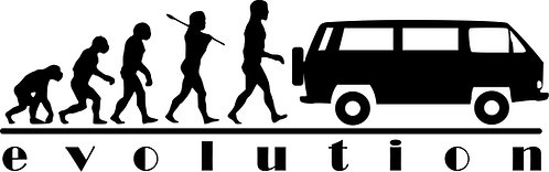 EVOLUTION VW Campervan T3 T25 4X4  Vinyl Decal Sticker VW funny