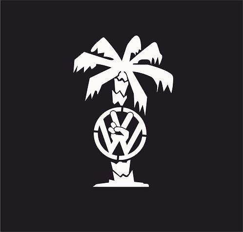 VW palm tree Hibiscus Vinyl