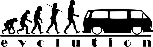 EVOLUTION VW Campervan T25 T3 Vinyl Decal Sticker VW funny