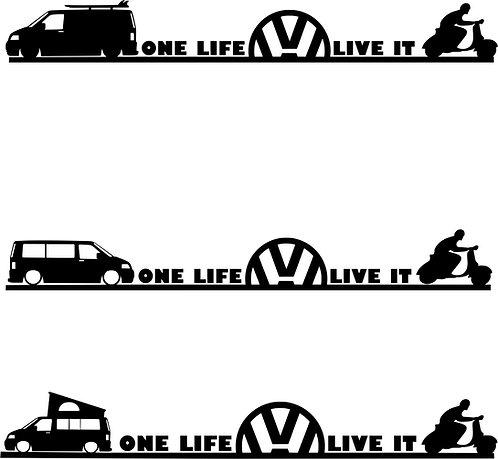 One Life Live It Vespa