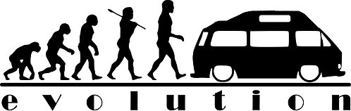 EVOLUTION VW Campervan T3 T25   Vinyl Decal Sticker VW funny