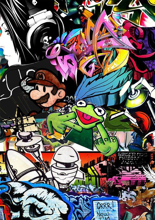 2 x Graffiti Sticker Bomb
