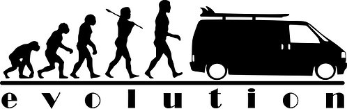 EVOLUTION VW Campervan T4  Vinyl Decal Sticker VW funny