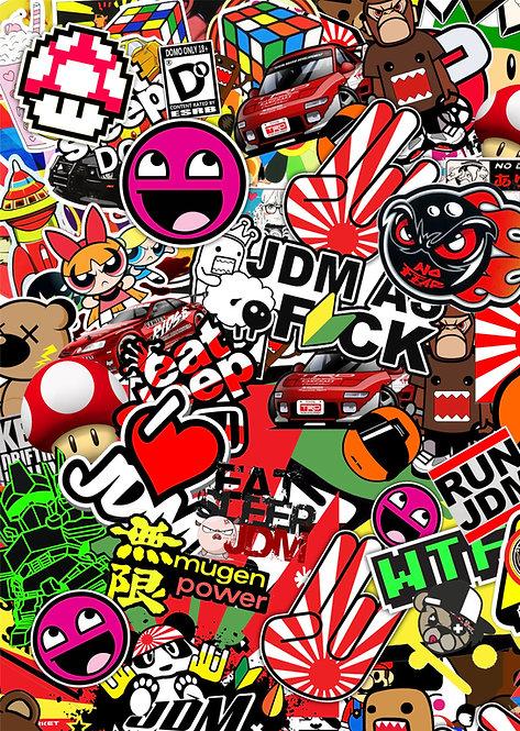 2 x Jdm Sticker Bomb