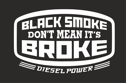 Black Smoke Don't Mean It's.....Surf-VW funny sticker decal