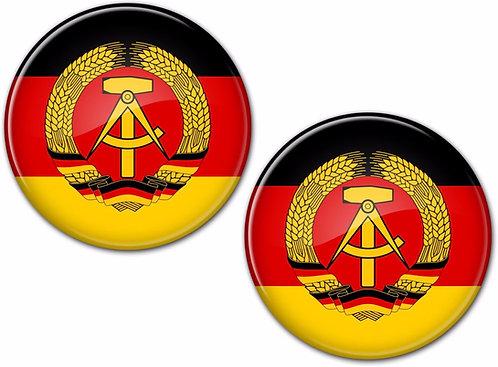 2 x German Stickers Car Surf Vinyl Decal