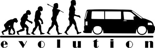 EVOLUTION VW Campervan T5  Vinyl Decal Sticker VW funny