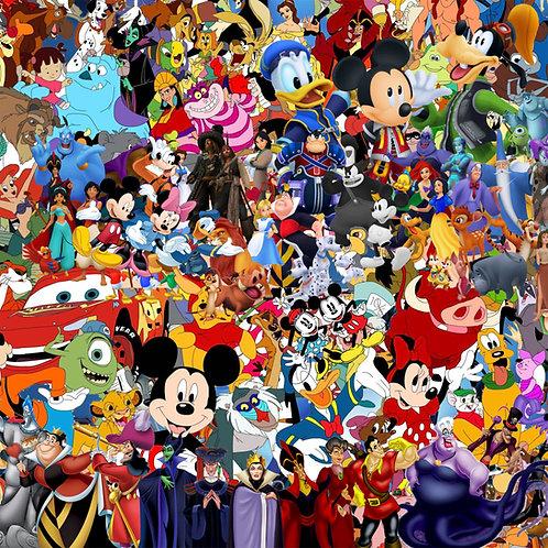 Disney Characters Sticker Bomb