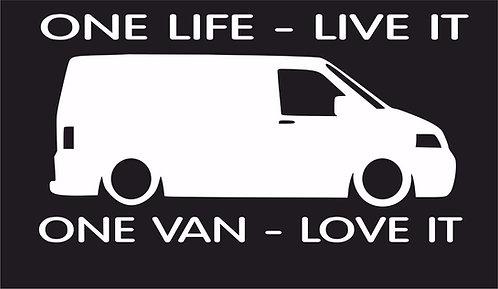One life One van T5 surf car JDM VW VAG EURO Vinyl Decal Sticker Dub