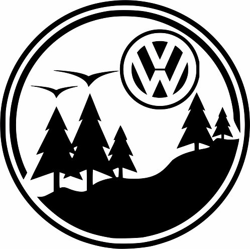 Born for Adventure Volkswagen surf car  Vinyl Decal Sticker VW funny