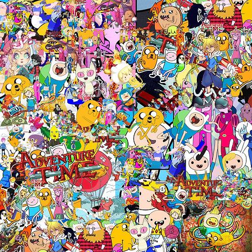 Adventure Time Sticker Bomb