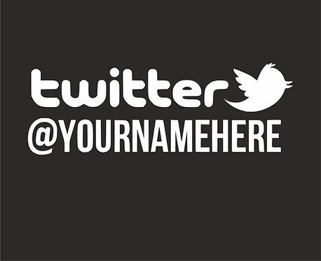 2 x Twitter Username