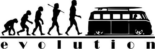 EVOLUTION VW Campervan T1  Vinyl Decal Sticker VW funny