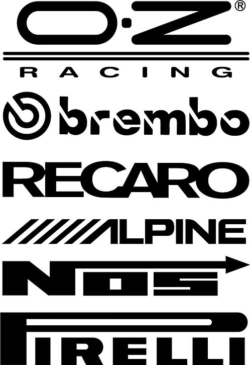 2 x DOOR STACK RACING logos graphic s2