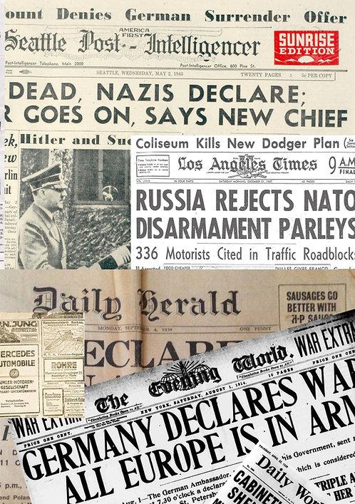 2 x German Newspapers Sticker Bomb