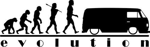 EVOLUTION VW Campervan T2 Vinyl Decal Sticker VW funny