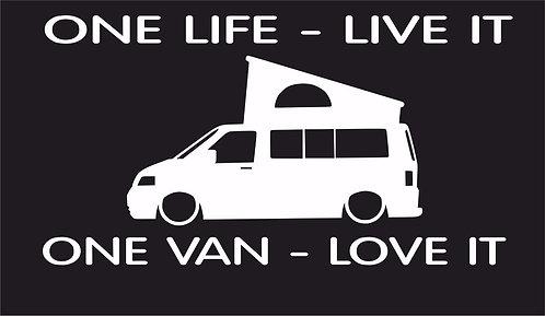 One life One van T5 Pop surf car JDM VW VAG EURO Vinyl Decal Sticker Dub