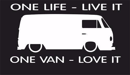 One life One van T2 surf car JDM VW VAG EURO Vinyl Decal Sticker Dub