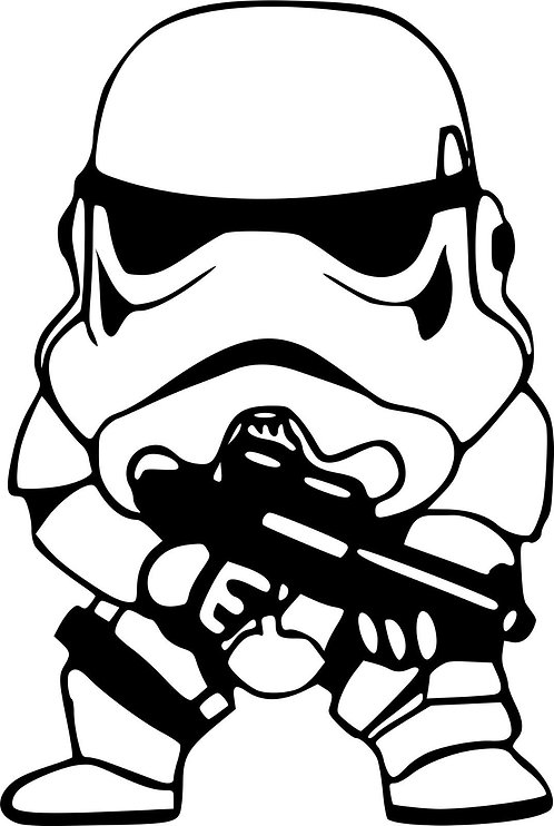 Star Wars - Force Awakens - The Last Jedi - Vader - Joda - Stormtrooper